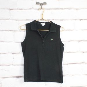 LACOSTE Sleeveless Tank Top Polo Shirt Size 38 S